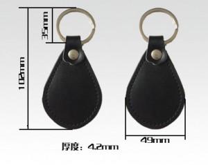 RFID leather key fobs