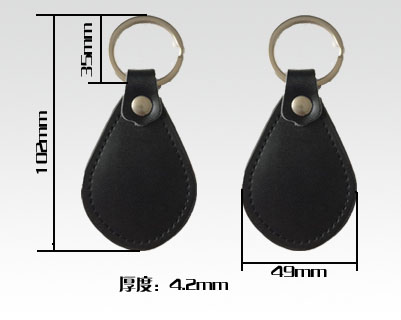 RFID leather key fobs