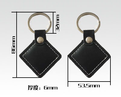 RFID leather key tags