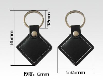 RFID leather key tags