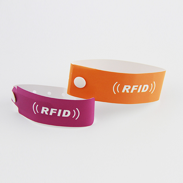 NFC Synthetic wristbands,disposable RFID paper wristbands