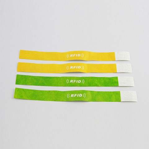 Disposable Tyvek RFID wristbands