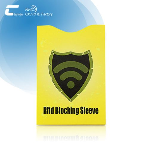 Custom Coated Paper RFID Blocking Passport Protector