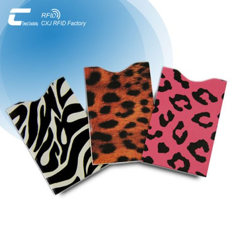 Multi Color Custom Printing RFID Credit Card Protection Sleeves