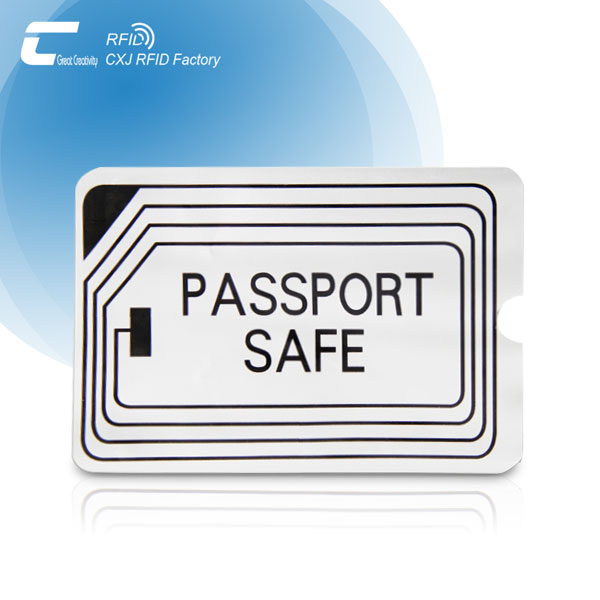 Plastic and Aluminum Foil Anti-Theft RFID Passport Sleeves Protector