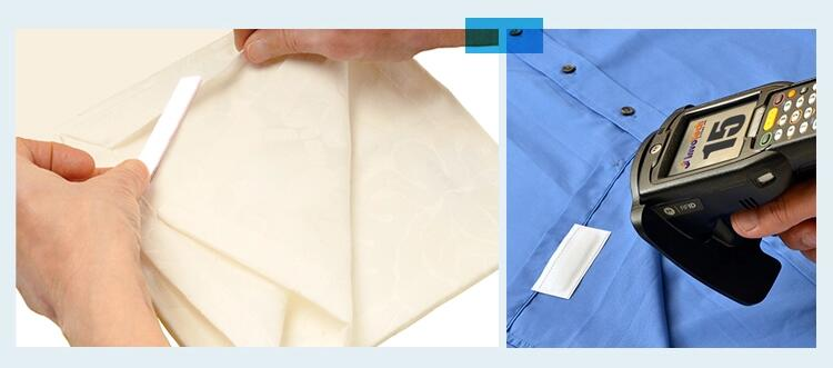 RFID silicone laundry tag into all kind of garments