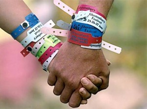 wristband with music festival