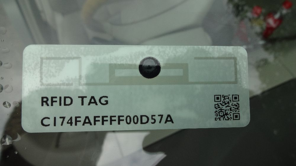 rfid windshield label