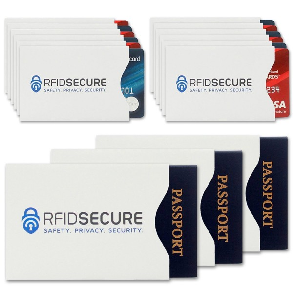 dfdc6d925ba0 15 RFID Blocking Sleeves Top Identity Theft Protection
