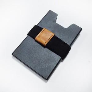 manual alu business card holder