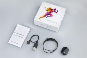 RFID fitness activity tracker wristband