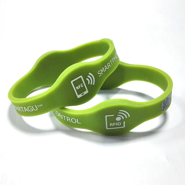 Dual-frequency RFID Wristbands waterproof silicone