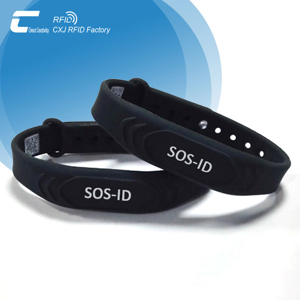 Waterproof Silicone Emergency ID Wristband