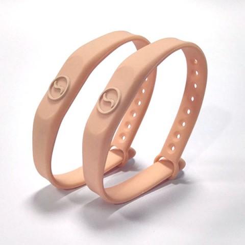 bicolore silicone wristband