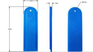 Silicon RFID Laundry Tag Wth IMPINJ M3 Chip