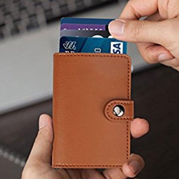 RFID Blocking men's Slim wallet