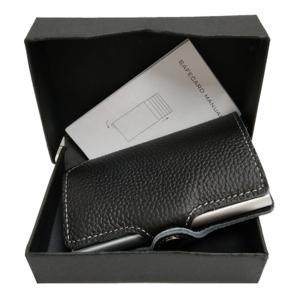 Aluminum slim wallet RFID blocking