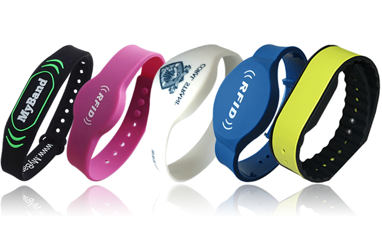 rfid silicone wristband nfc