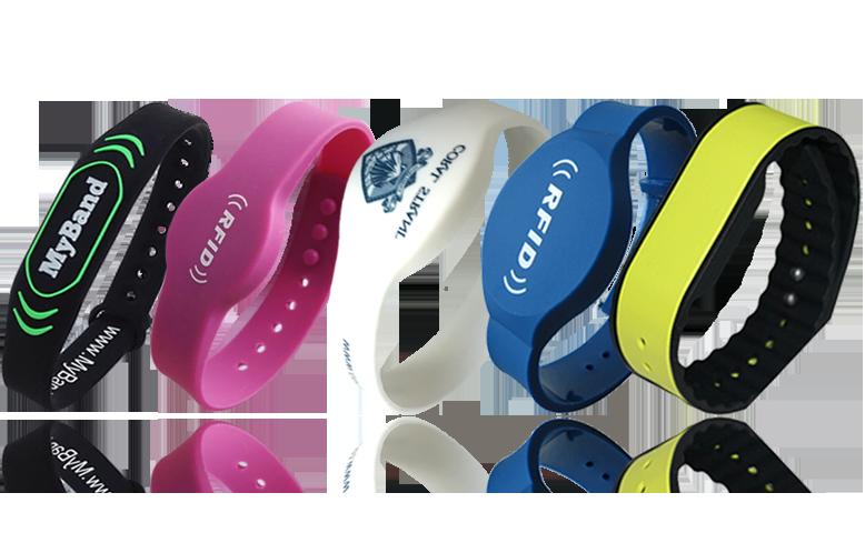 rfid silicone wristband nfc