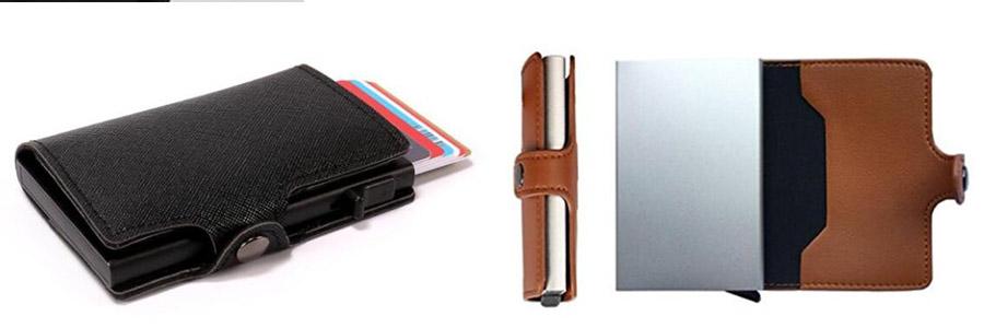 Aluminum RFID Blocking Metal Wallet