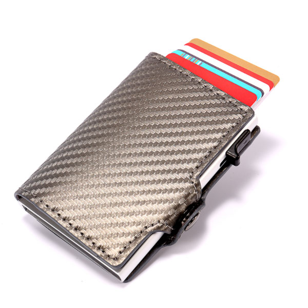 RFID Aluminium Card Holder Carbon Fiber Minimalist Slim Money Clip