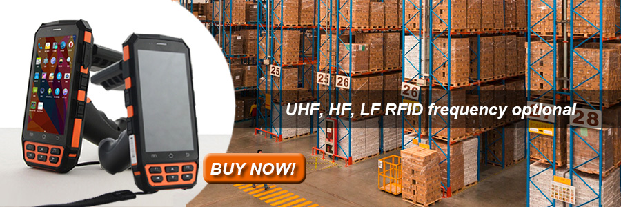 UHF Handheld RFID Reader Android 5 1 for Logistics Tracking