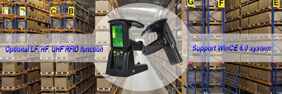 Wireless Handheld RFID Tag Reader WinCE System for Logistics