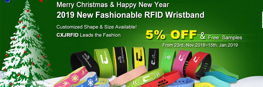 RFID wristbands Christmas promotion