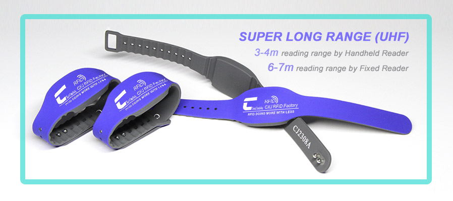 2019 adjustable size UHF RFID wristband