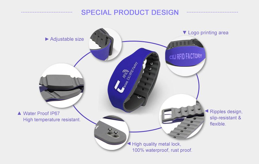uhf silicone wristband' s details