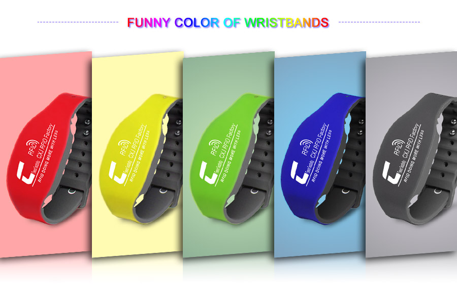 Colorful UHF silicone wristbands