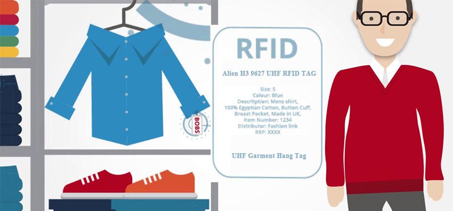Clothing Management RFID tracking label