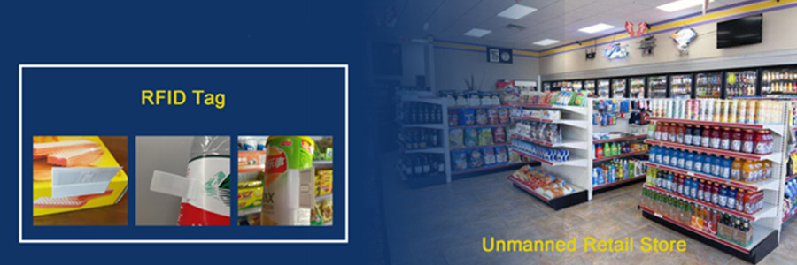 UHF RFID sticker for unmanned supermarket