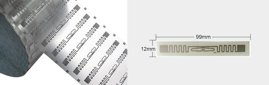 UHF RFID label size 99x12mm