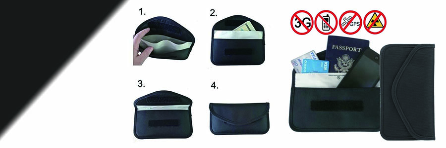 anti tracking RFID blocking pouch bag