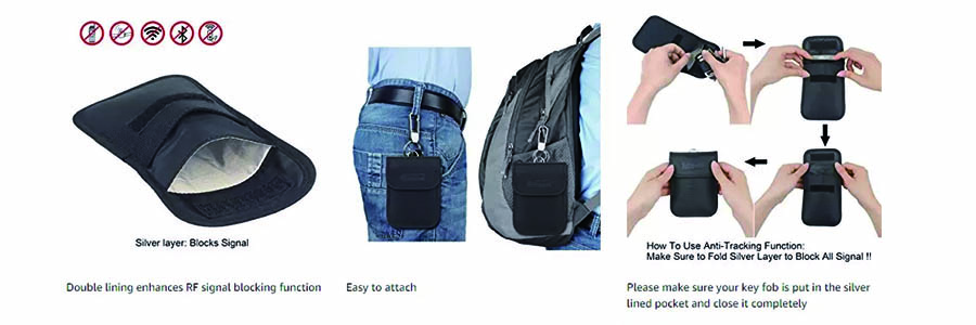 protect your information by RFID car key blocker bag