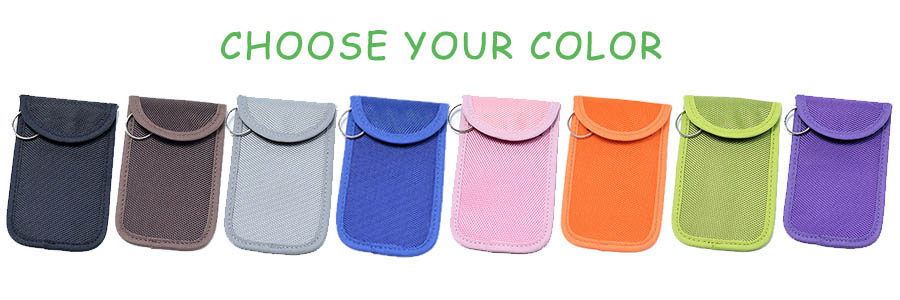 choose the color for your RFID car key blocker bag