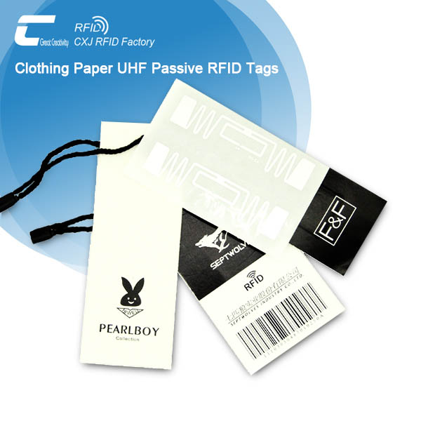 Custom Apparel UHF Passive RFID Tags Hang Tag for garment management