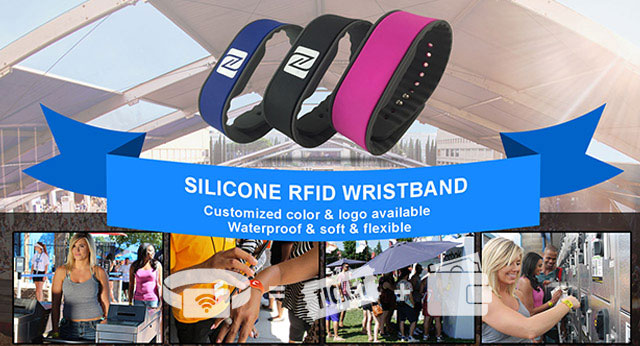 Logo your waterpoof rfid wristbands
