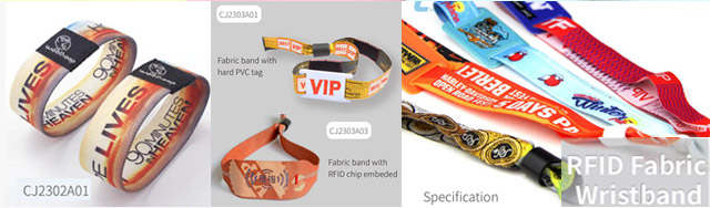 RFID NFC Fabric wristband for event