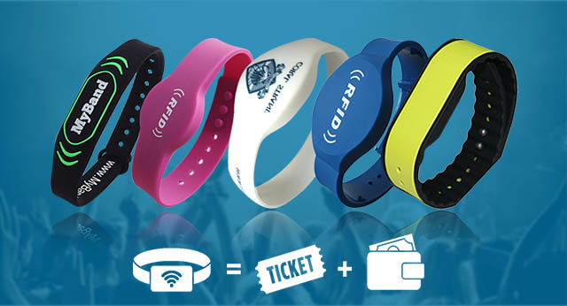 Customized RFID silicone wristbands