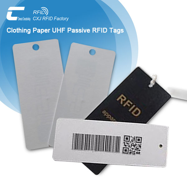 Wholesale UHF Apparel Tag Paper Barcode RFID Tags - CXJ