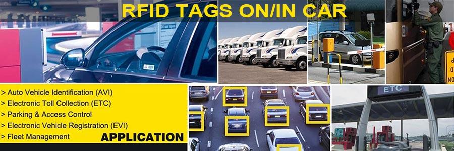 Custom Printable RFID Tag On Car Windshield
