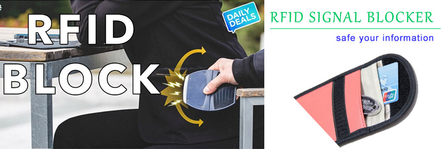 Use RFID signal blocker to protect your credit card