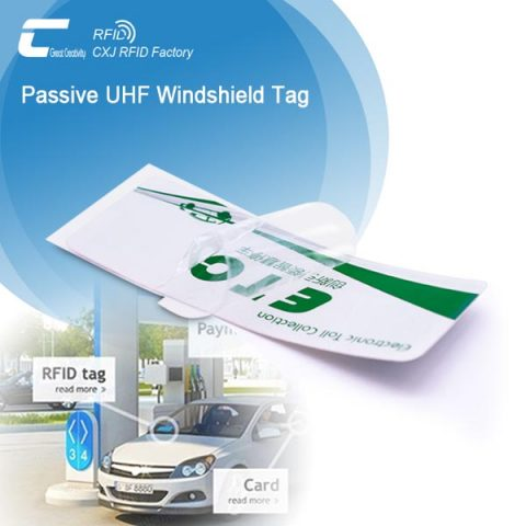 Printable RFID Tag On Car Windshield