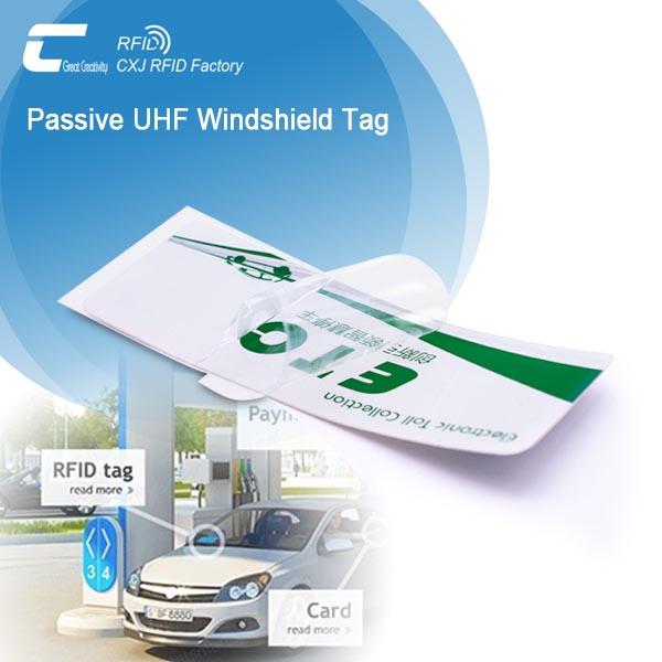 Printable RFID Tag On Car Windshield