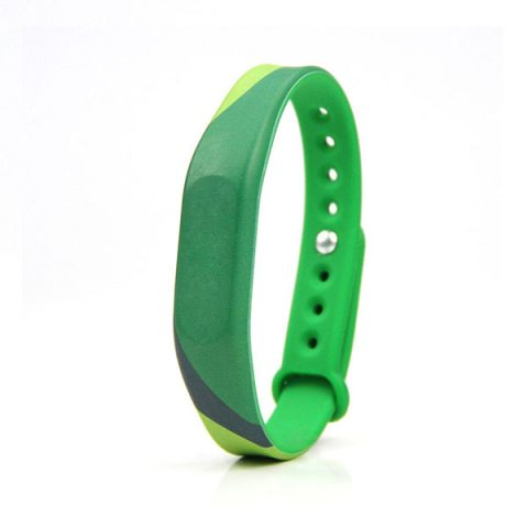 Heat transfer printing silicone RFID festival wristbands