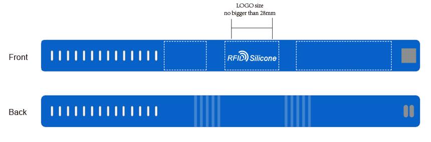 RFID wearable silicone wristband CJ2308A06 Size