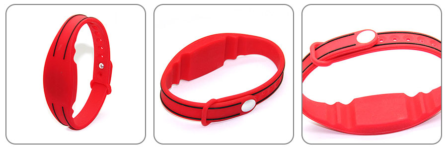 Reusable Silicone NFC Event Wristband CJ2308A08-3 Views