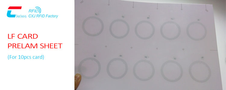 RFID LF card prelam sheet